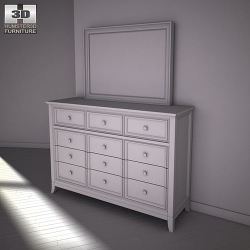 ashley martini suite storage bedroom set 3d model game
