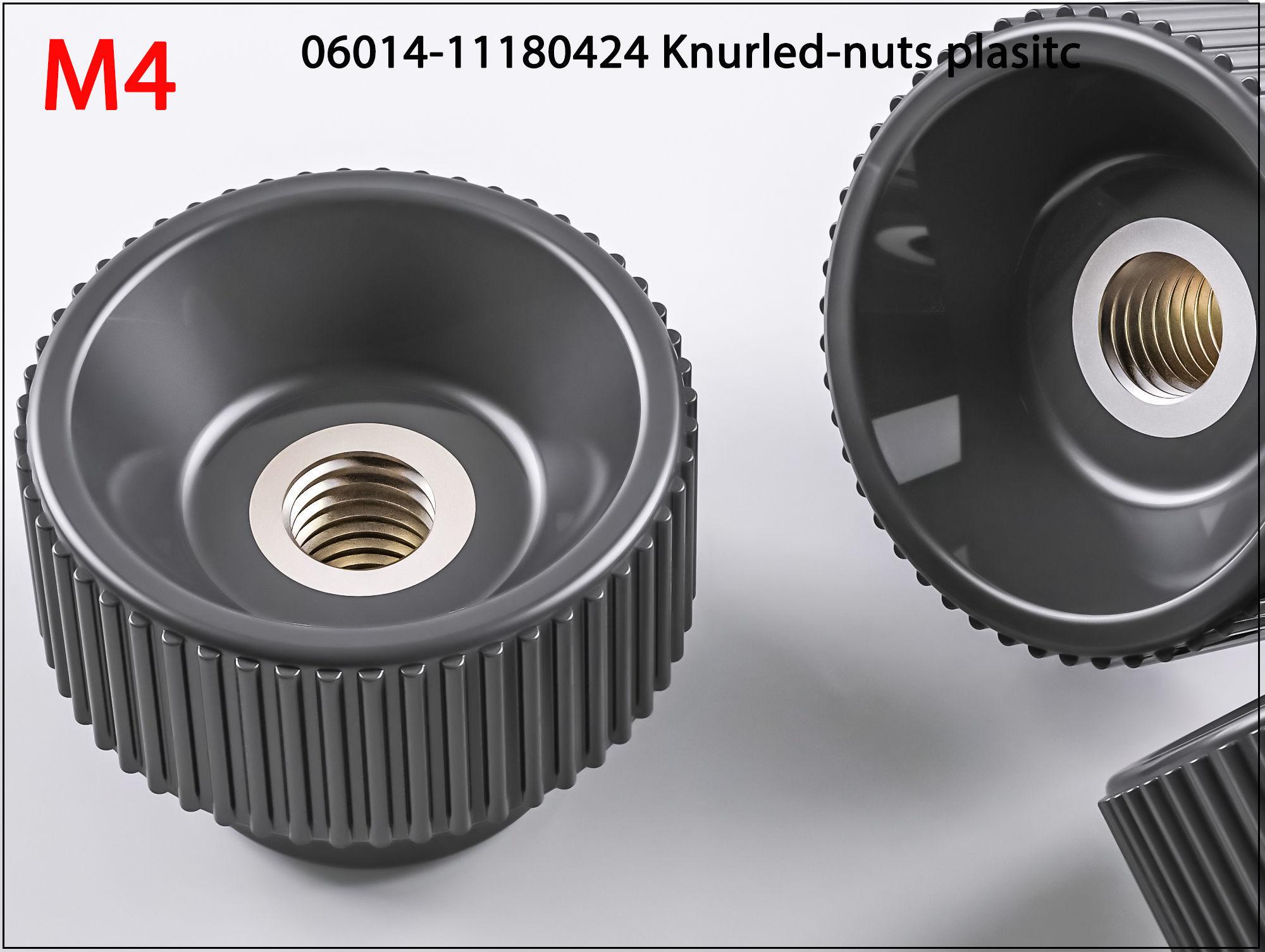 3D Nuts M4 06014 11180424 Knurled plasitc 3D print model