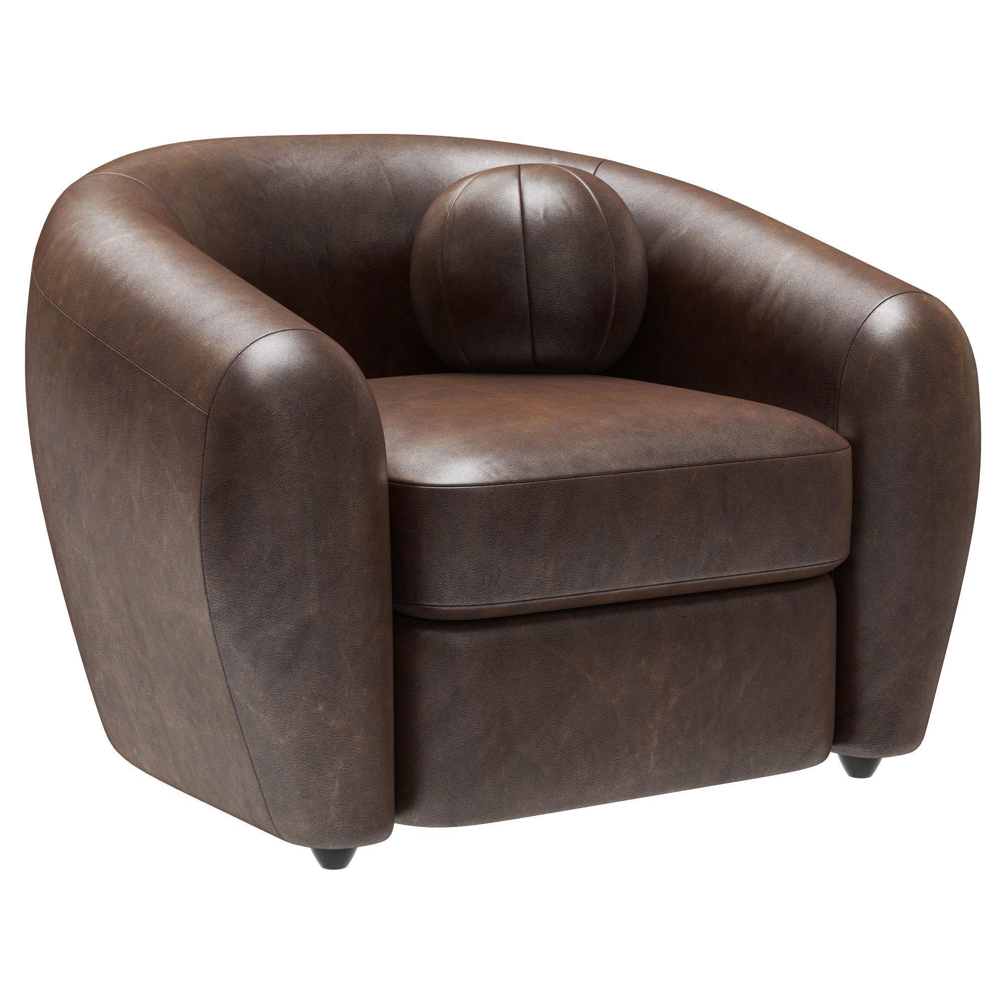 Restoration Hardware Sylvain Leather Chair