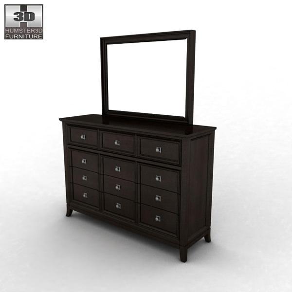 ... ashley martini suite dresser mirror 3d model max obj 3ds fbx mtl 2 ... - Ashley Martini Suite Dresser Mirror 3D Model CGTrader