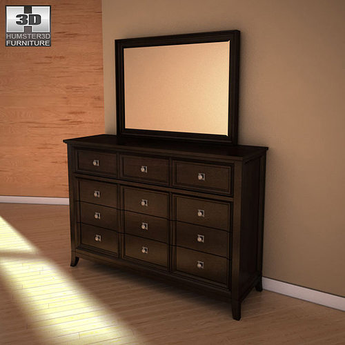 martini suite bedroom set martini suite dresser mirror 3d model cgtrader 15973