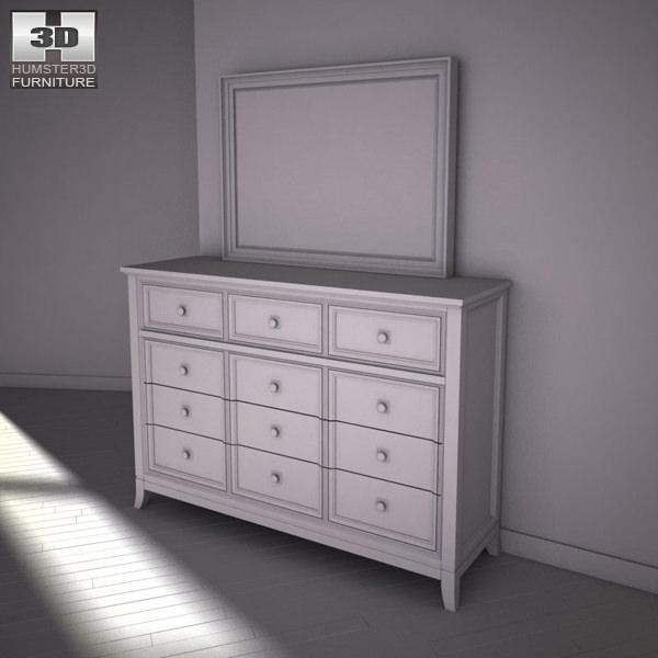 martini suite bedroom set.  ashley martini suite dresser mirror 3d model max obj 3ds fbx mtl 3 Ashley Martini Suite Dresser Mirror 3D CGTrader