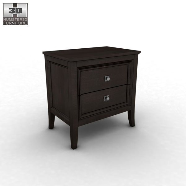... Ashley Martini Suite Nightstand 3d Model Low Poly Max Obj Mtl 3ds Fbx 2  ...