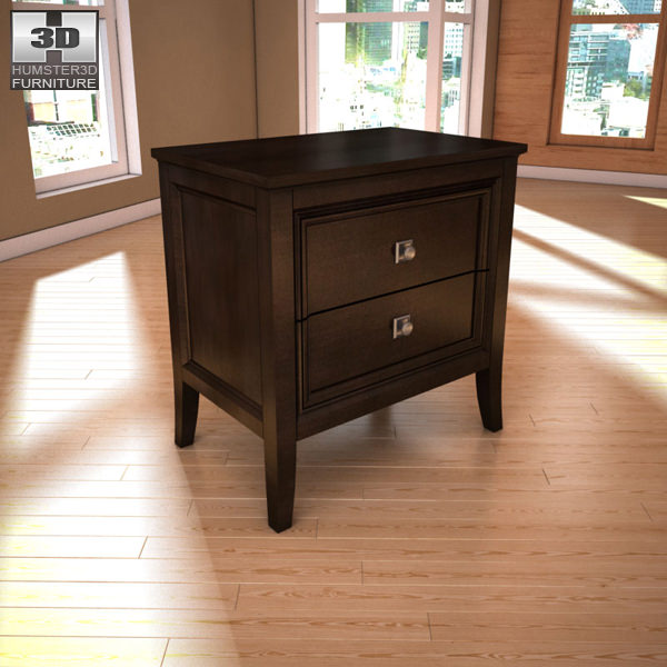 Ashley Martini Suite Nightstand 3D model | CGTrader