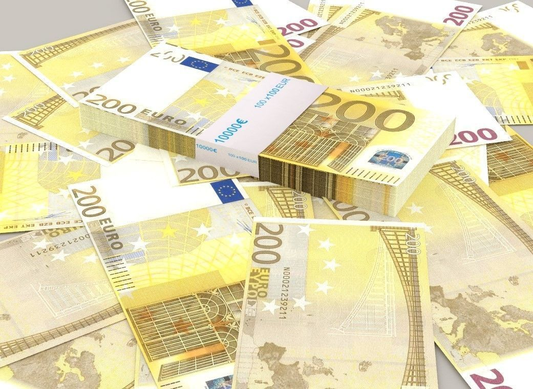 200 euro banknote packs