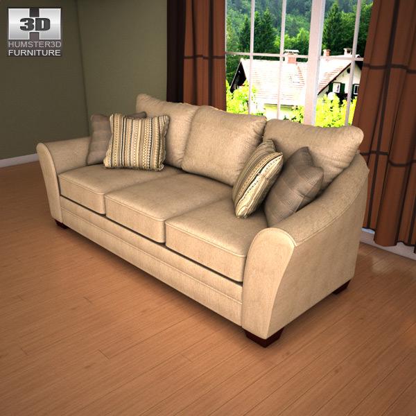 Living Room Models 3d model ashley lena putty sofa loveseat living room set vr / ar