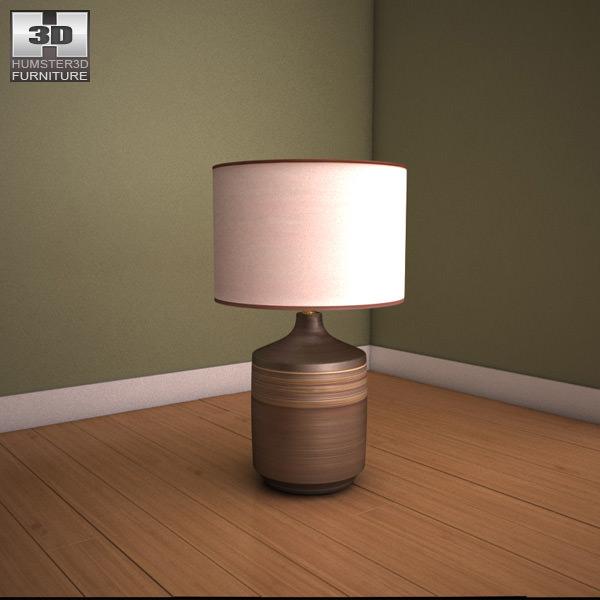 ashley karissa table lamp 3d model max obj 3ds fbx mtl 1