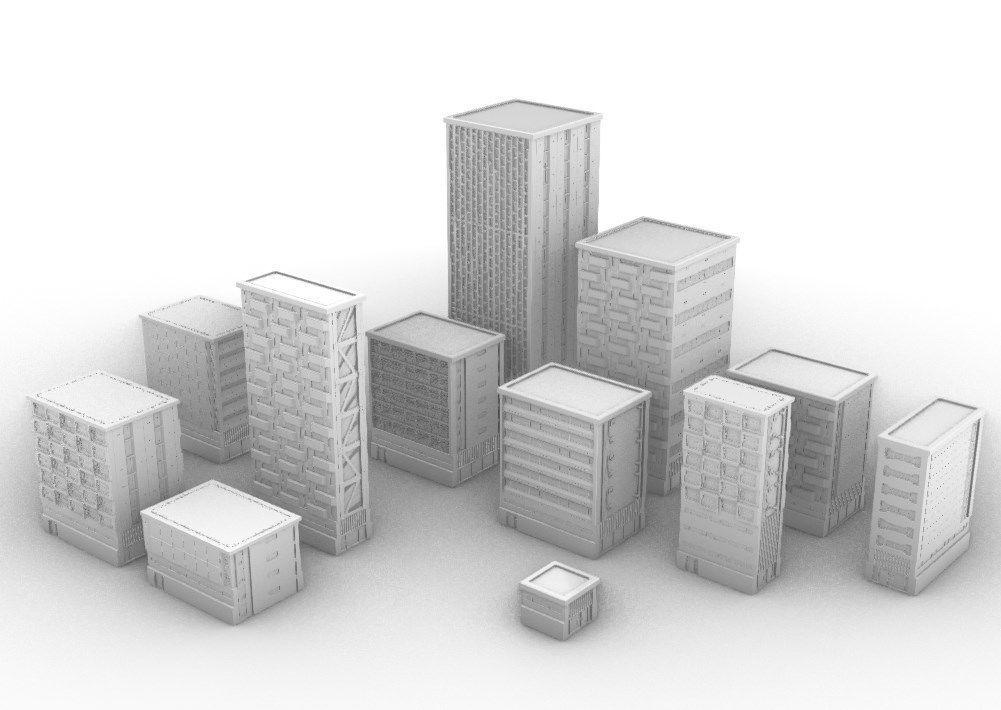 Modular Buildings Pack I - Modern-Cyberpunk