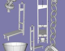 3D Guillotine Fbx Obj