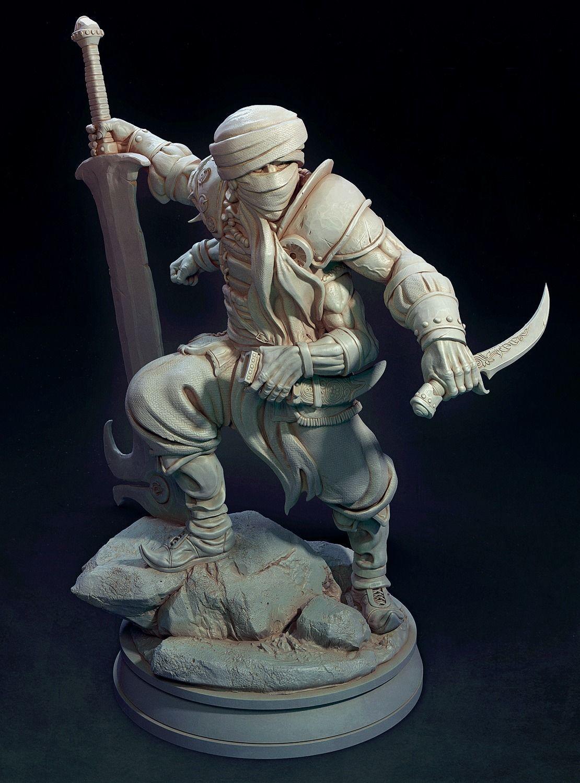 The Fire Warrior Figurine