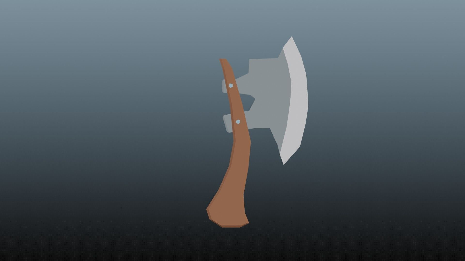Low poly axe 1