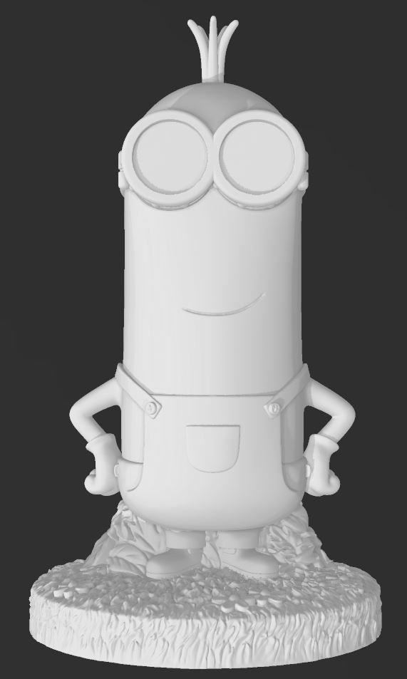 Minions - Kevin - HIRES on base for 3d Printing