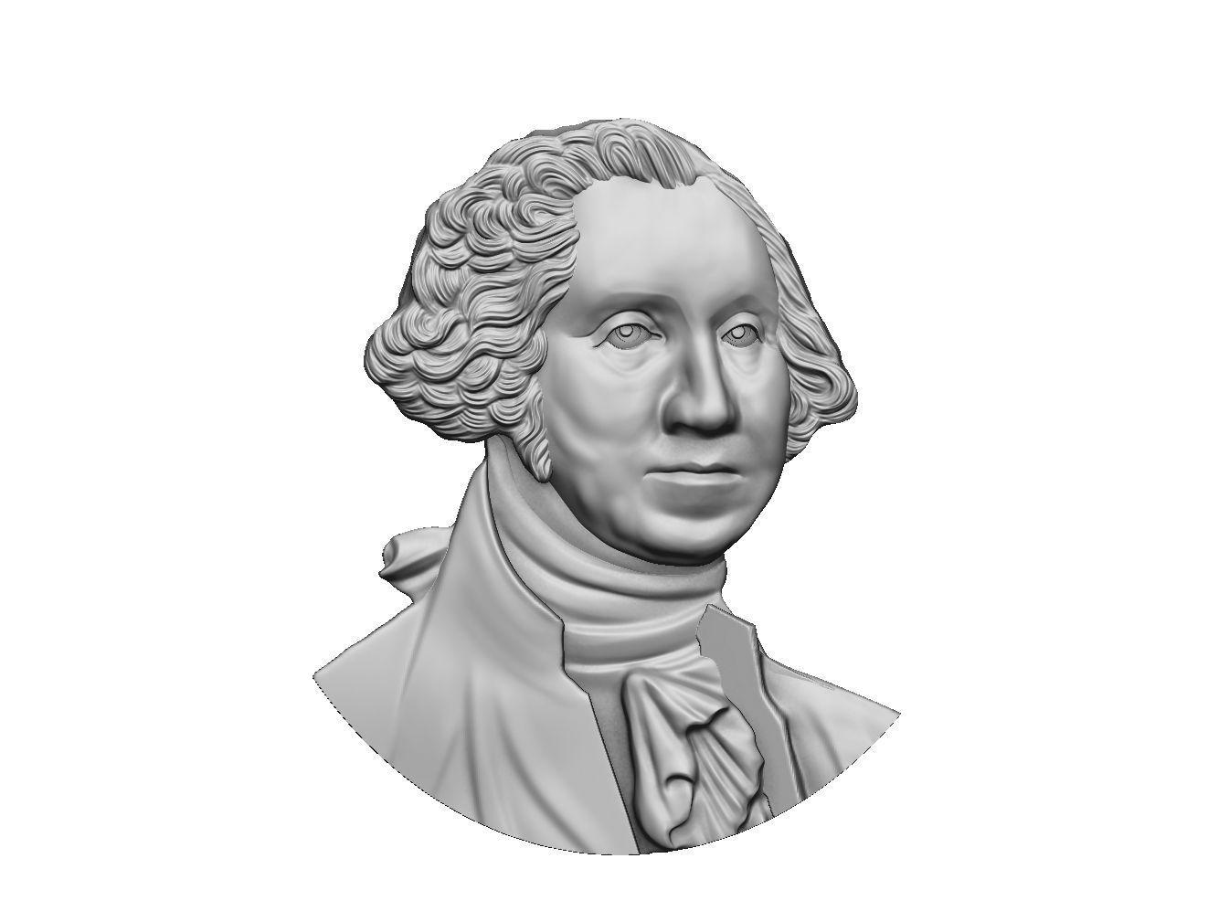 Washington portrait relief 3D print model