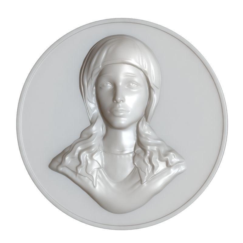 Maria Virgin Cameo Brooche 002