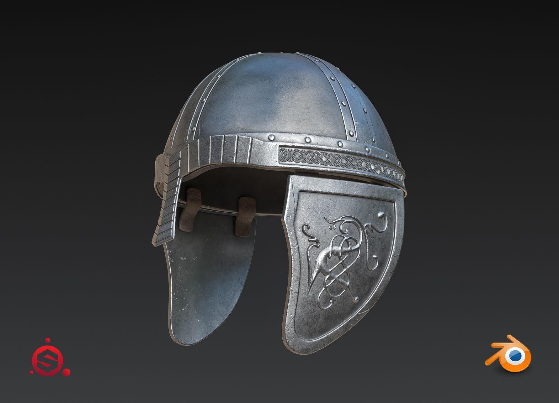 Medieval Helmet High Poly