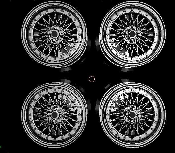 1 to 24 scale car rims