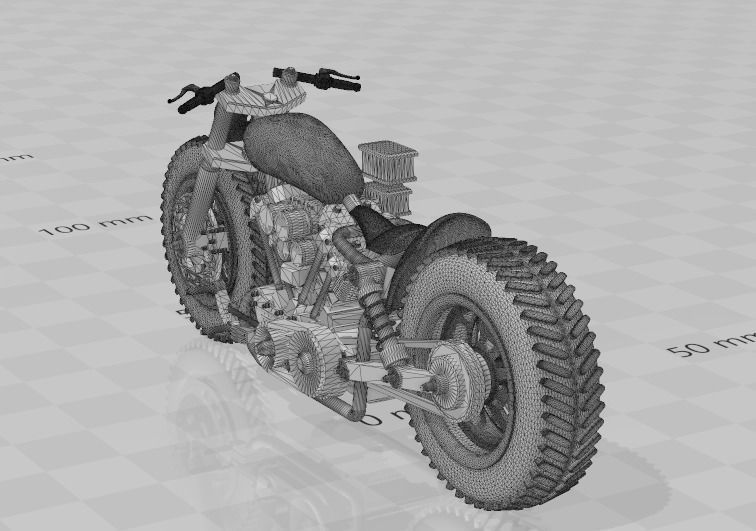 1 to 24 scale custom motorcycle
