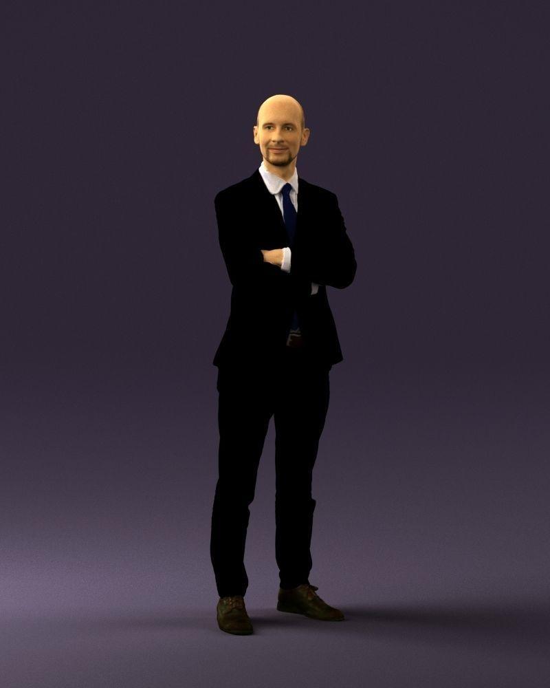 Man in black suit 0450 3D print model