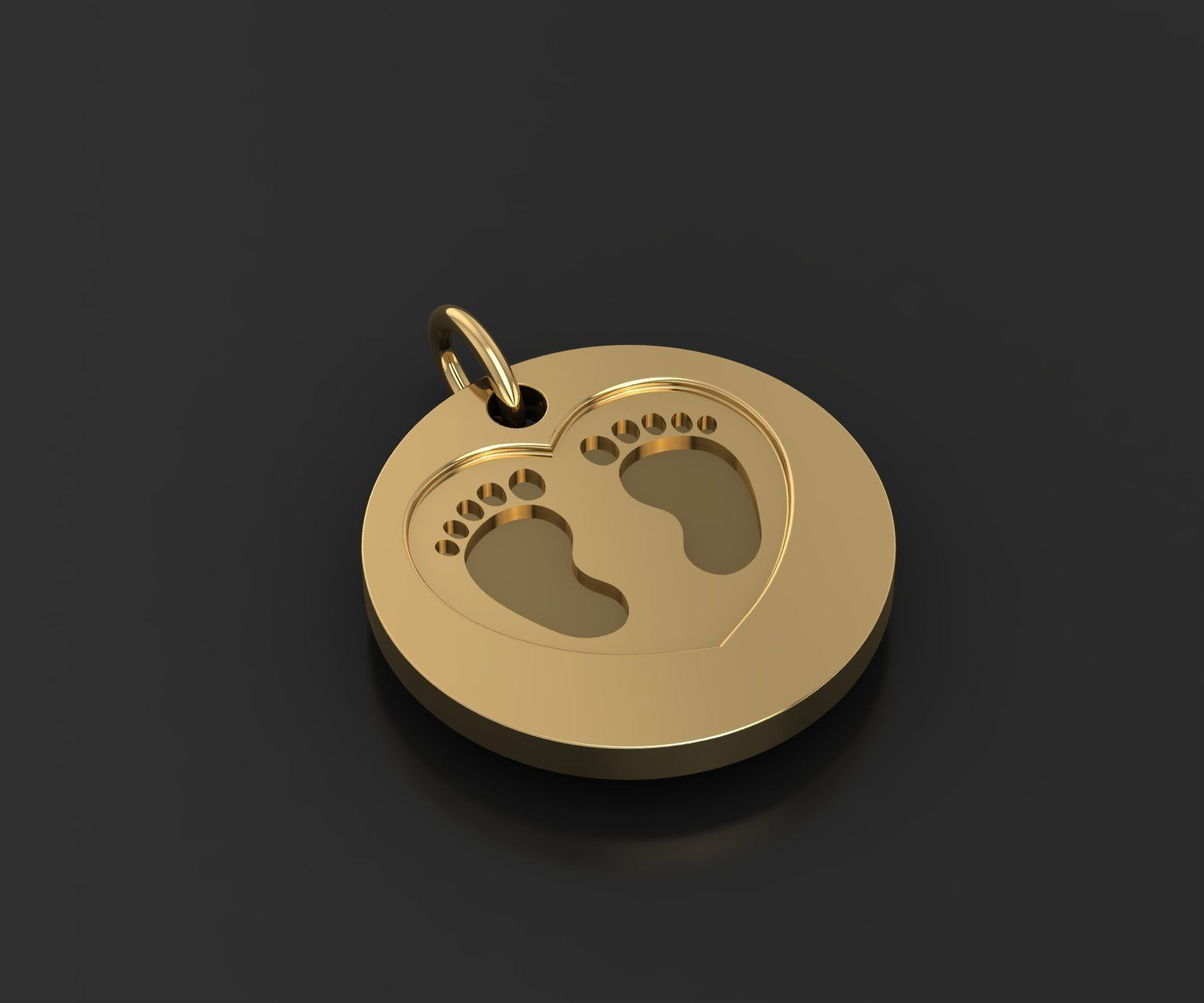 symbolic pendant for the birth of a child  3D print model