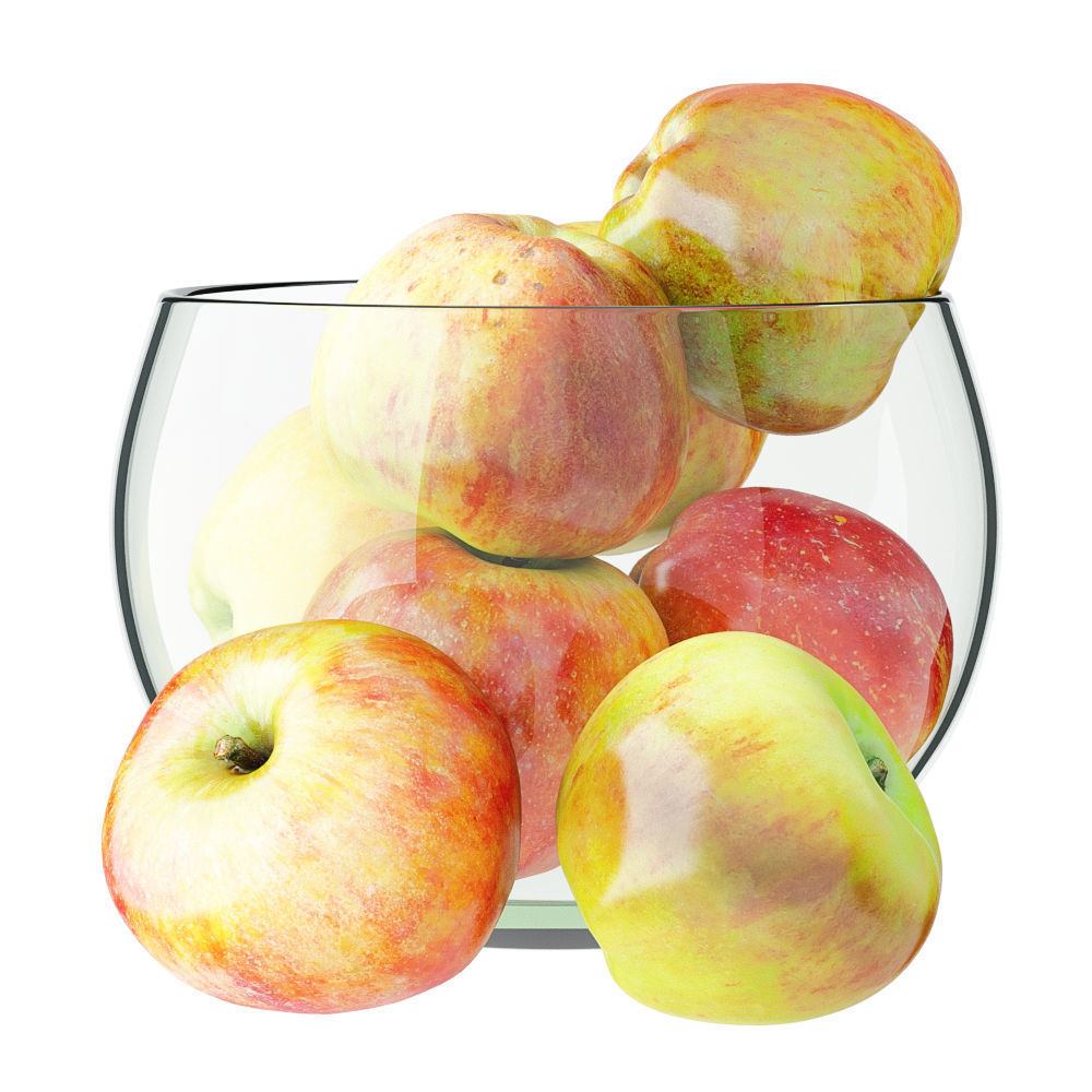 Apples in a Glass Round Vase