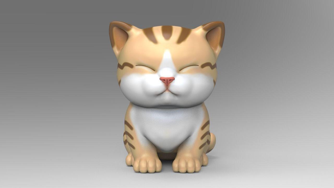 Cute Kitten V3 STL