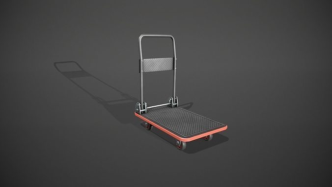Folding Platform Truck - Trolley - Red Accents