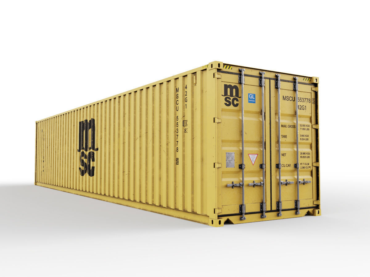 40 feet MSC standard shipping container