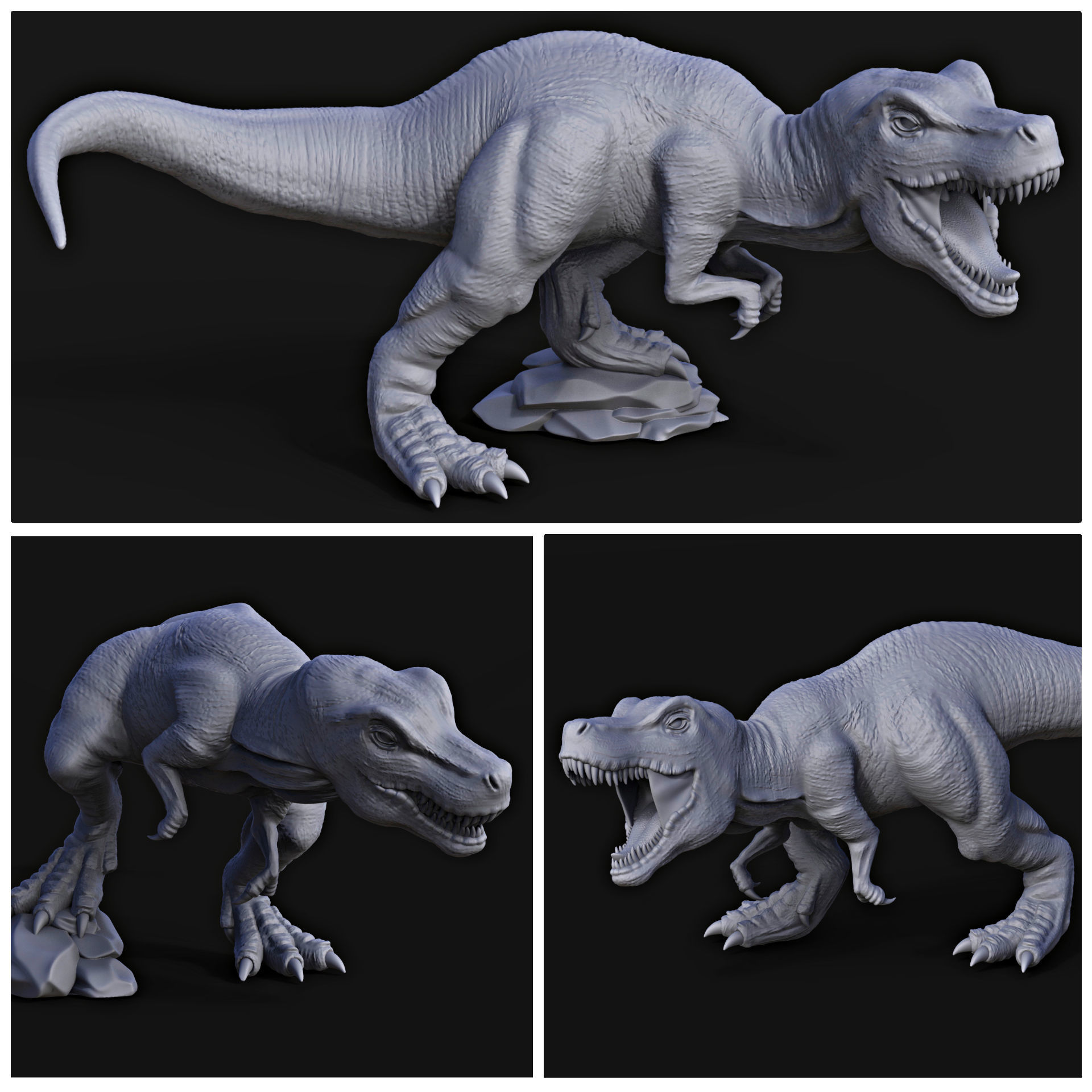 Tyrannosaurus rex pack for 3D printing