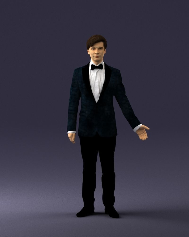 Boy in suit with bow tie 0462