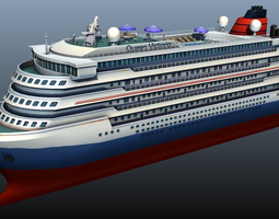 cruise liner - low poly 3d model realtime