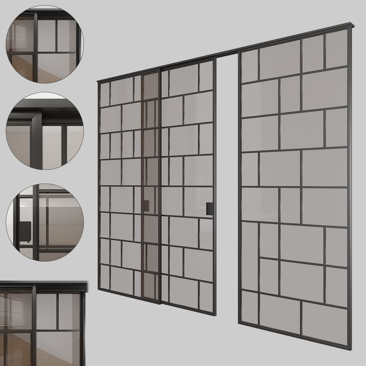 Glass sliding doors 001