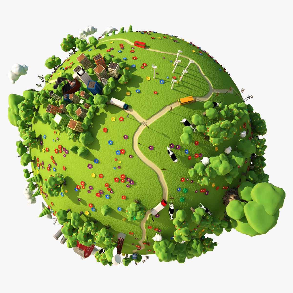 3D Cartoon Planet Summer