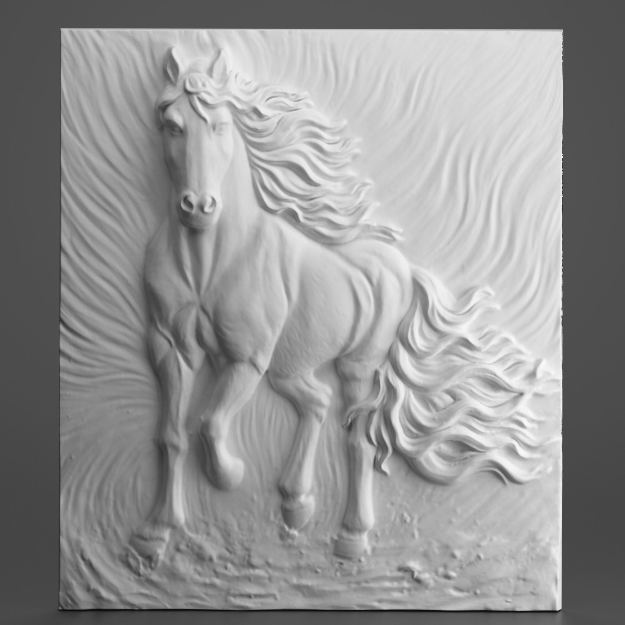 Horse Carving Panel