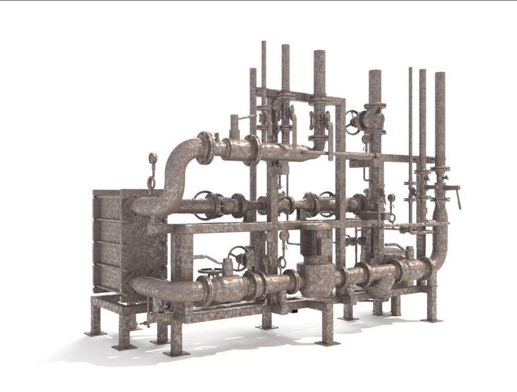 Industrial heat exchanger filter pipeline boiler plant