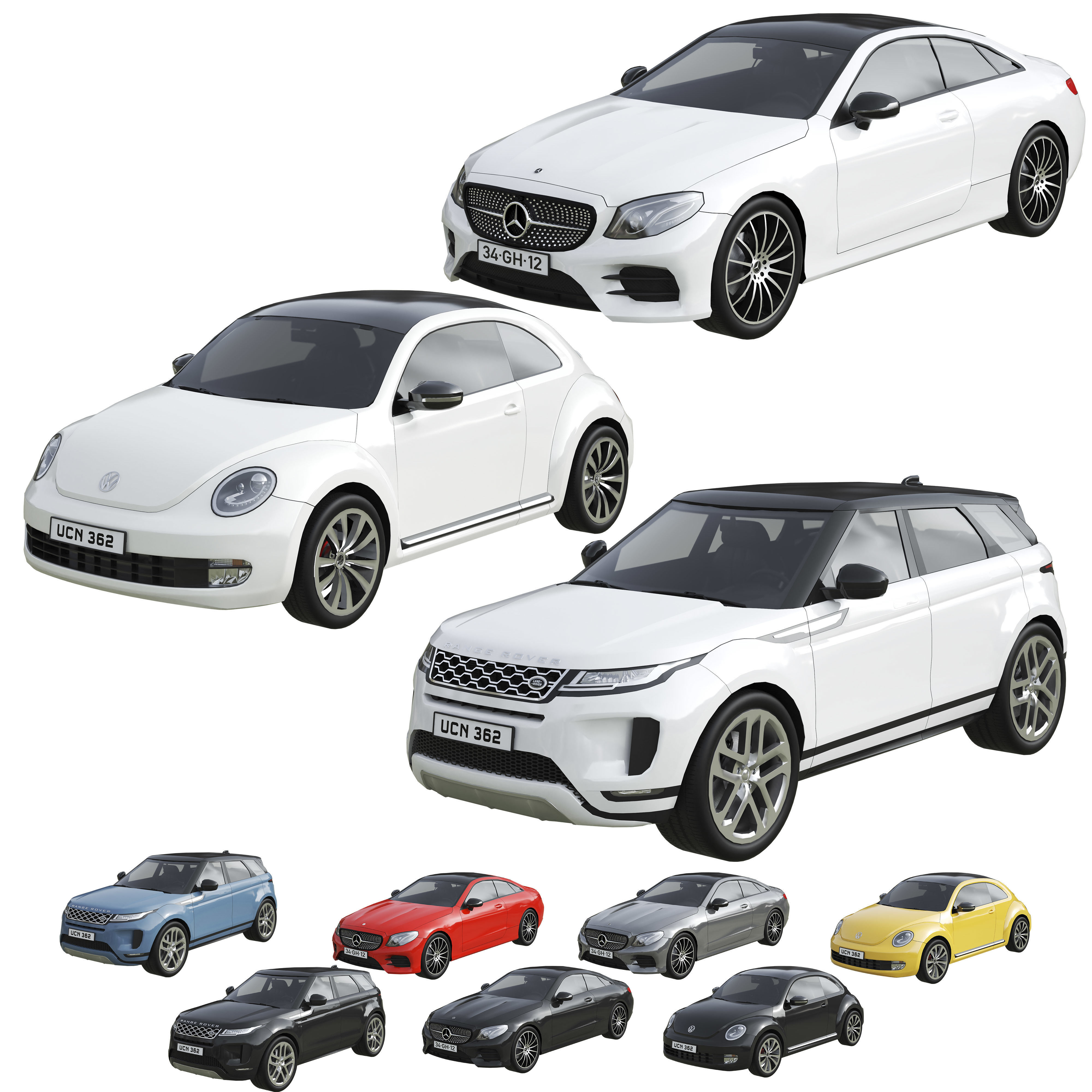 Low Poly Cars Set