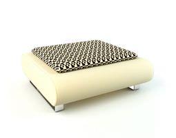 White armchair 89 am112 3D