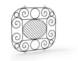 Ornamental artistic railing 106 am79 3D