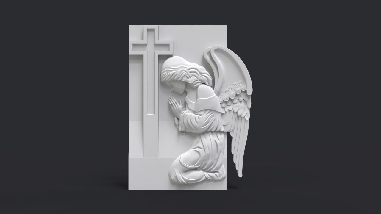 Praying Angel Tombstone