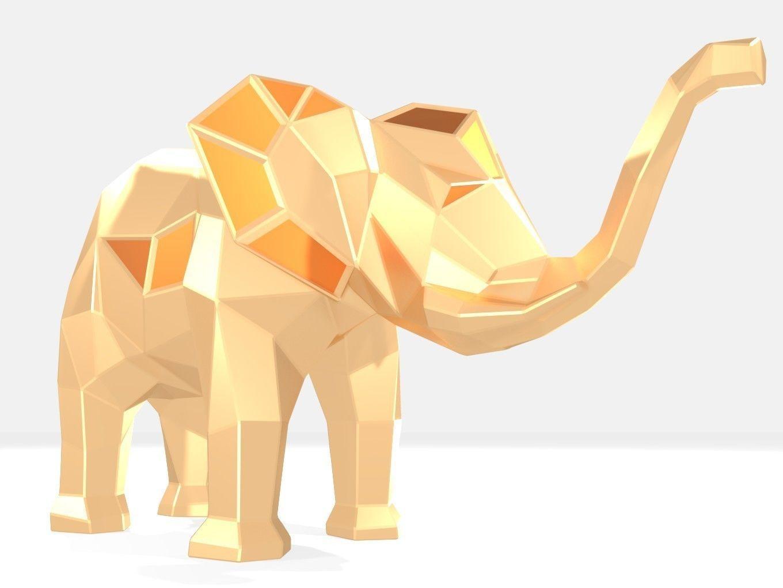 Polygonal Elephant Female Parametric