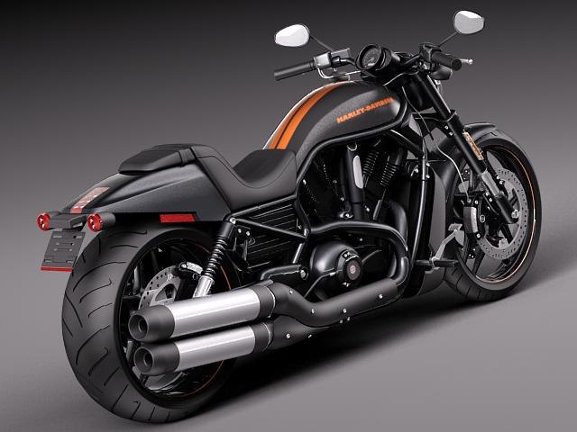 2012 Harley Davidson V Rod Night Rod Special: Harley-Davidson V-rod Night Rod Special 2013 3D Model .max