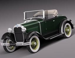 Ford Model A Roadster 1929-1931 3D Model