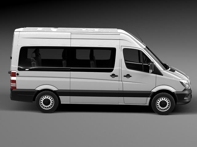 Mercedes benz sprinter passenger van 2014 3d model max for Mercedes benz 2014 suv models