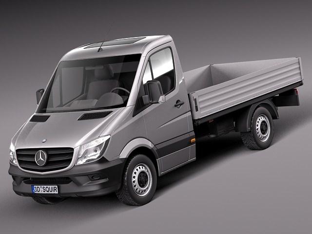 Mercedes benz sprinter pickup short 2014 3d model max 3ds for Mercedes benz truck models