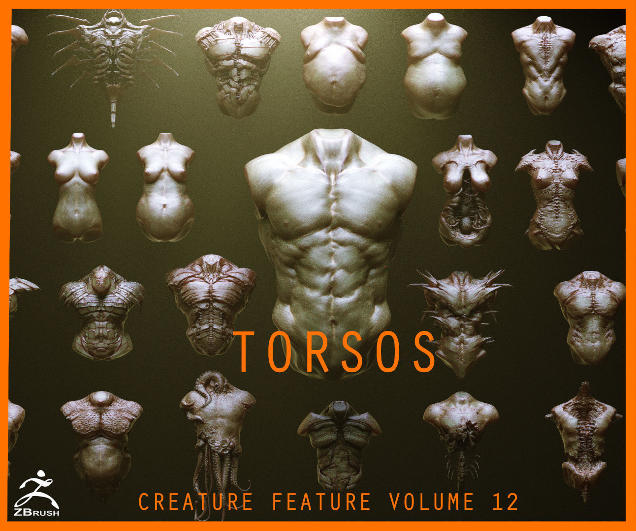 TORSOS - 33 Character and Creature Insert meshes