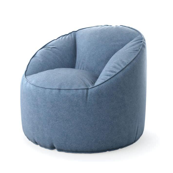 About A Chair 22 Armchair.Blue Lounge Armchair 22 Am121 3d Model