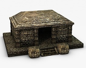 Ancient stone temple ruins 3D asset