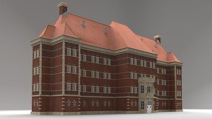 Modular Historicism tenement house  public utility building