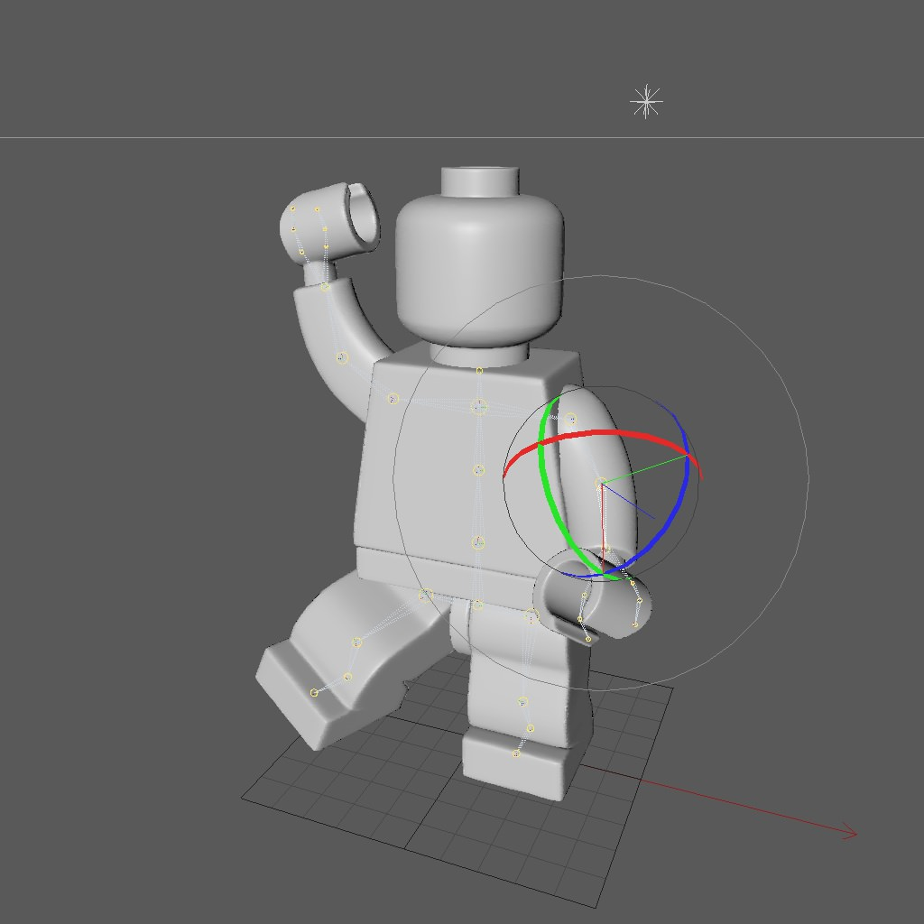 Lego Rigged Minifigure 3D Model Game Ready Rigged .c4d