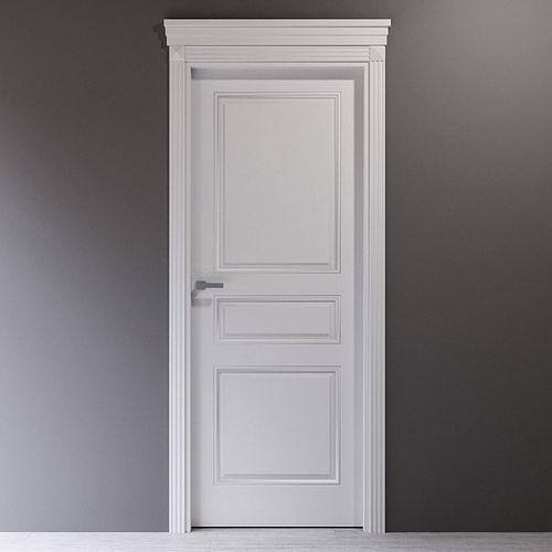 White interior door in classic style