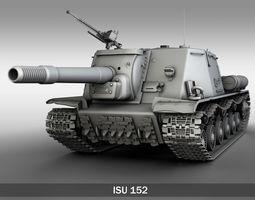 isu-152  - soviet heavy self-propelled gun  3d